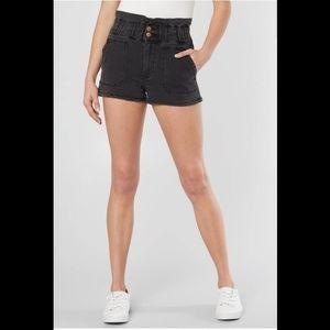 NWOT KanCan Charcoal Paperbag Shorts
